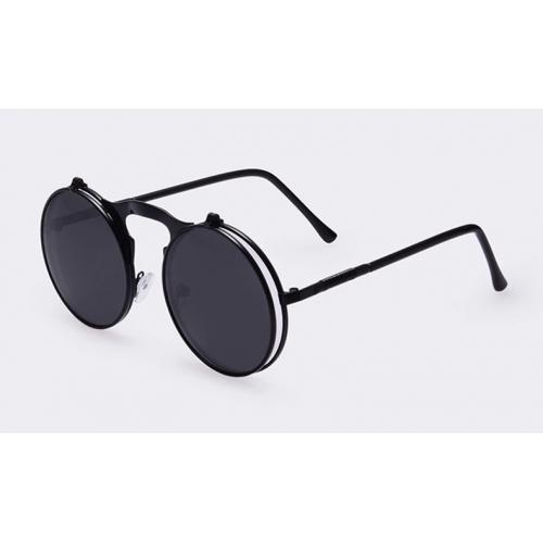 Vintage Round Flip Sunglasses