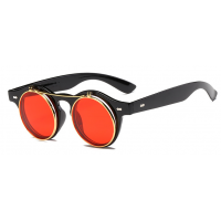 Vintage Round Clamshell Sunglasses