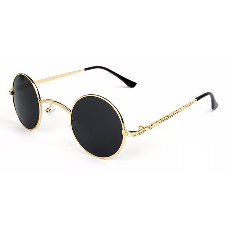 1a3928d0560 Gothic steampunk small round glasses gold frame black lens png 800x800 Steampunk  gothic sunglasses frame blue
