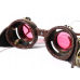 Gothic / Steampunk / Cyberpunk Leather Welding Goggles with Scope and Magnifying Lenses