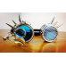 Cyberpunk Spiked Goggles with Magnifying Lenses