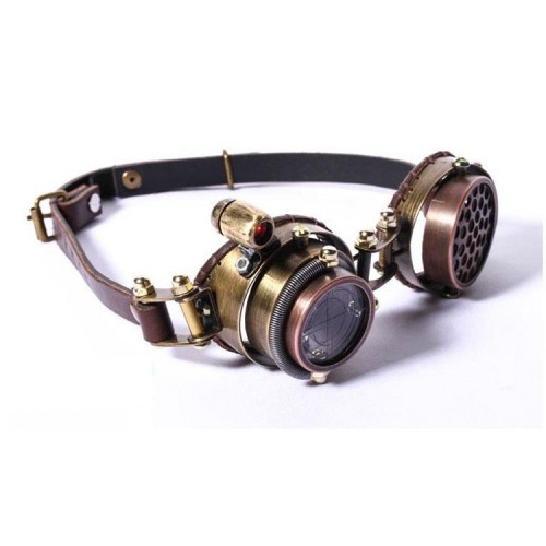 Cyberpunk / Steampunk Laser Scope Leather Goggles